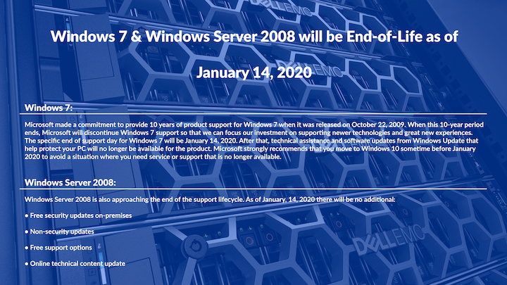 Windows 7 & Server 2008 End-of-Life